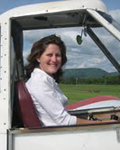 Sarah Kelly Arnold in a towplane